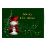 Christmas Snowman Greeting Cards