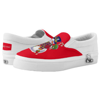 Christmas Snowman Holiday slip on shoes