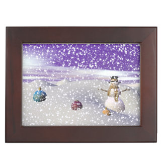 christmas snowman keepsake box