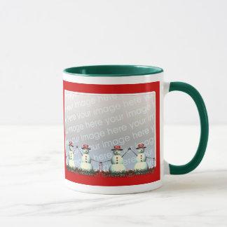 Christmas Snowman Line 2-Photo Frame Mug