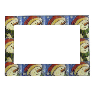 Christmas Snowman Magnetic Frame