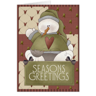 Christmas Snowman Patchwork Card