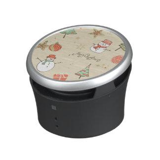 Christmas snowman pattern bluetooth speaker
