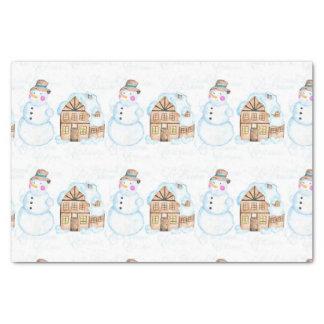Christmas Snowman Pattern Tissue Paper