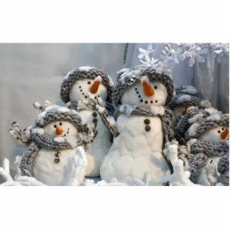 Christmas snowman photo sculpture