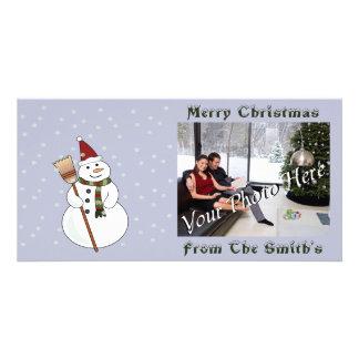 Christmas Snowman Photo Card