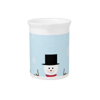 Christmas Snowman Pitcher