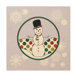 Christmas Snowman Polkadot Art