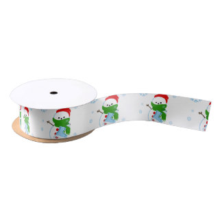 Christmas Snowman Ribbon Satin Ribbon