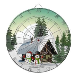 Christmas Snowman Scene Dartboard