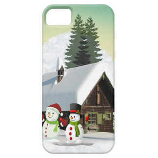 Christmas Snowman Scene iPhone 5 Cover