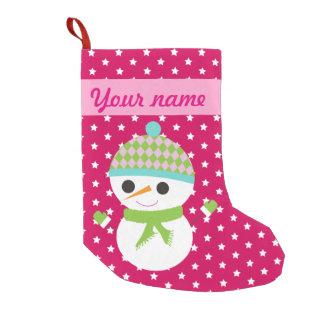 Christmas Snowman Small Christmas Stocking