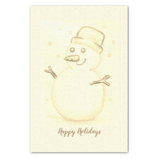 Christmas Snowman Tissue Paper