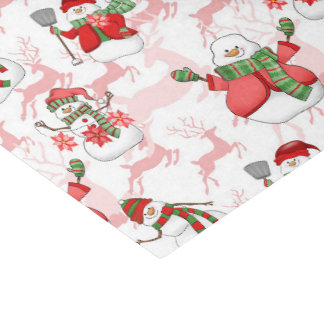 Christmas snowman watercolor party tissue tissue paper
