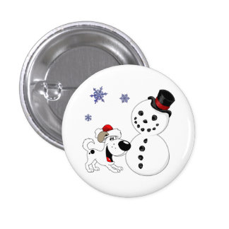 Christmas Snowman with Snowflakes Buttons