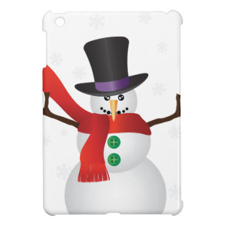 Christmas Snowman with Snowflakes Illustration Case For The iPad Mini