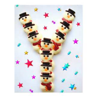 Christmas snowmen chocolate cookies 21.5 cm x 28 cm flyer