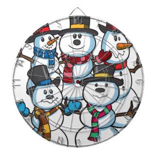 Christmas Snowmen Dartboard