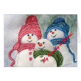 Christmas Snowmen Family Card