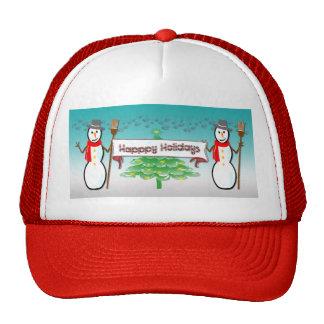Christmas - Snowmen, Happy Holidays Hat