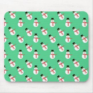 Christmas Snowmen Mouse Pad