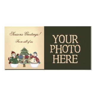 Christmas Snowmen Personalised Photo Card