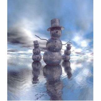 christmas snowmen photo cut outs