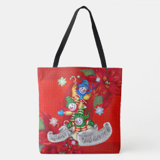 CHRISTMAS SNOWMEN TOTE CUTE CARTOON TOTE BAG