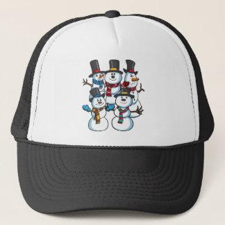 Christmas Snowmen Trucker Hat