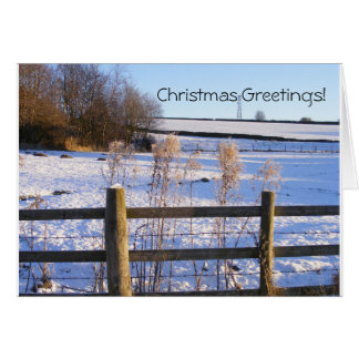 Christmas snowy landscape greetings! card