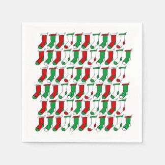 Christmas Socks Christmas Party Paper Napkins