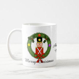 Christmas Soldier in Wreath Christmas Mug