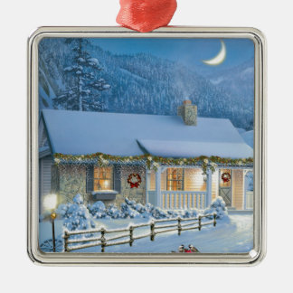 Christmas Solitude Metal Ornament