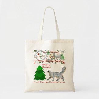 Christmas Somali Cats Tote Budget Tote Bag
