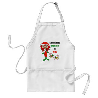 Christmas Sometimes Naughty Is Nice - Auburn Red Aprons