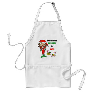 Christmas Sometimes Naughty Is Nice - Brunette Aprons