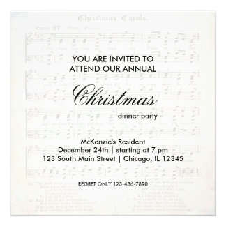 Christmas Song Invitations