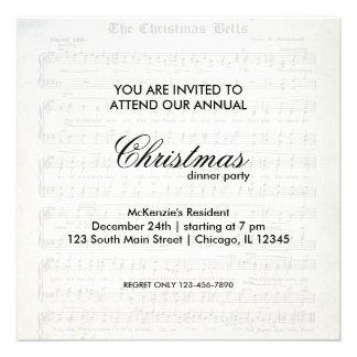 Christmas Song Custom Invitations