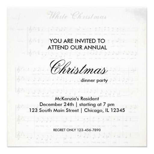 Christmas Song Personalized Announcements