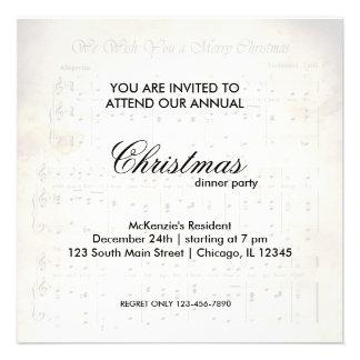 Christmas Song Custom Invite