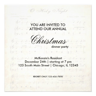 Christmas Song Personalized Invitations