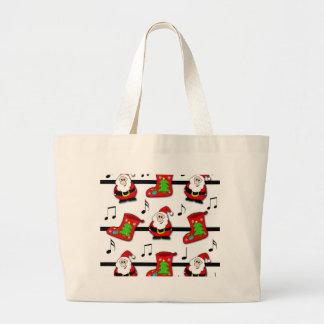Christmas song large tote bag