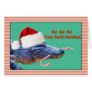 Christmas, South Carolina, Alligator Card