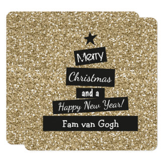 Christmas sparkle and glamor card