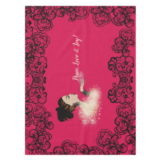 christmas sparkling fashion illustration tablecloth
