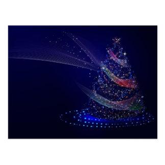 Christmas sparkling lights holiday tree postcard