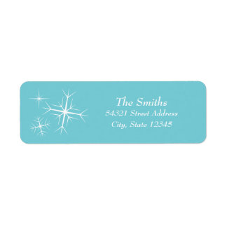 Christmas Sparkling Snowflake Address Label