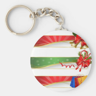 Christmas special banner design basic round button key ring
