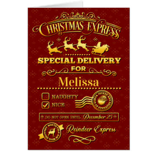 Christmas Special Delivery Card