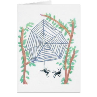 Christmas Spider Greeting Card